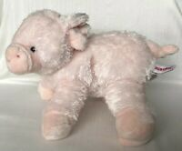 "Aurora Pink Pig Plush Very Soft Floppy Stuffed Animal 10"" Light Pink Piglet"