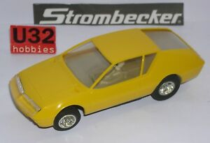 FN strombecker 9595 Renault Alpine A310 Yellow Excellent Condition Unboxed