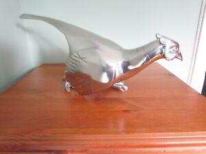 Royal Selangor, large pewter Ring-necked Pheasant Figurine/centre piece