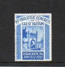 GB CINDERELLA BRIGHTON PHILATELIC CONGRESS 1932