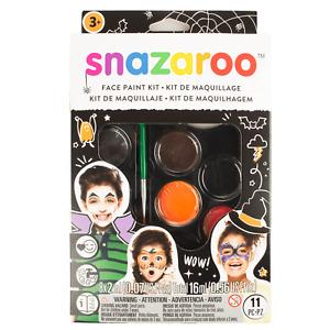 Snazaroo Face Painting Kit Adults Kids Pro Face Paints 9 Colours Brush Fancy Dre