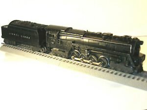 LIONEL 671 Steam Turbine 6-8-6 Locomotive and 2466WX Whistling Tender 1947-49