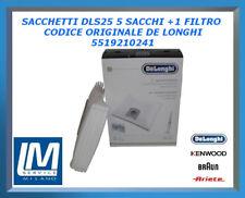 SACCHETTI DLS25 5 SACCHI +1 FILTRO 5519210241 DE LONGHI ORIGINALE
