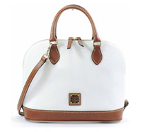 Pebble Grain Zip Satchel in White by Dooney & Bourke R343 WH Summer Handbag