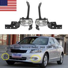 Fog Driving Lights Lamps For Honda Accord Sedan 2008 2009 2010 Replacement Pair