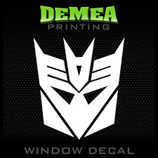 Transformers Decepticons - Personalized Window Car Decal/Sticker - 5""