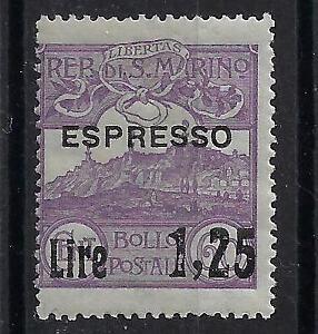 1926 San Marino espressi Soprastampato Lire 1.25 su 60 cent. MNH