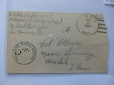 (H264) 1944 OCTOBER 8th NAVY CENSOR COVER TO ILLINOIS