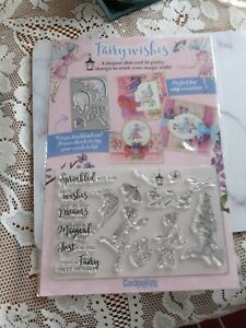 BRAND NEW FAIRY WISHES DIE CUTTER AND STAMPS X 16 CRAFT CLEAROUT
