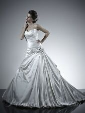 365W PRIVATE COLLECTION IVORY SILVER 18899 ISZ 10 $1349 WEDDING DRESS GOWN NWT
