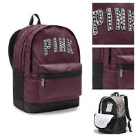 Victoria's Secret PINK Campus Backpack Burgandy/Black New  BP42