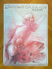 """Franciszek Starowieyski Polish Poster """"Starowieyski Year 1699 Album"""" 1999"""