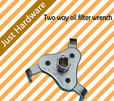 """2 Two Way 3 leg Jaw Oil Filter Wrench Silver Tone Vehicle 2.5"""" to 4""""  100mm new"""