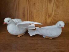 "Porcelain ""White Love Doves� Vintage Pair of Homco Figurines #8856"