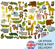 ANIMAL JUNGLE ZOO STICKERS Art Craft GOLD JOURNAL Planner SCHOOL DECORATE nature