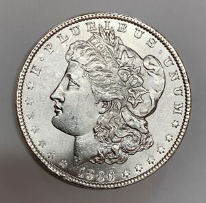 1886 Morgan Dollar Top 100 Vam Variety VAM 1A1 Line in 6 Brilliant Uncirculated