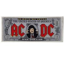 OFFICIAL LICENSED - AC/DC - BANK NOTE DOLLAR SEW ON PATCH ANGUS ROCK