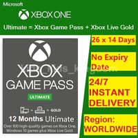 XBOX LIVE GAME PASS Ultimate 12 Months 26x14 Day (364 Days) - LIVE GOLD+GAMEPASS