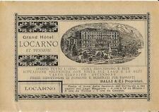 Stampa antica pubblicità GRAND HOTEL LOCARNO lago Maggiore 1889 Antique print