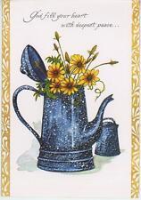 VINTAGE SPLATTERWARE ENAMELWARE PITCHER S & P COOKING CHEF PSALM  CARD ART PRINT