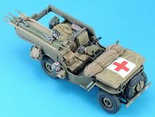 Legend 1/35 Willys MB Jeep Ambulance Conversion Set [Resin w/PE + Decal] LF1315