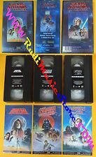 BOX 3 VHS film GUERRE STELLARI la trilogia 1995 20th CENTURY FOX (F110*) no dvd