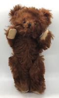 "10"" ANTIQUE 1930s GUND TEDDY BEAR CINNAMON MOHAIR, GREAT CONDITION  VINTAGE"