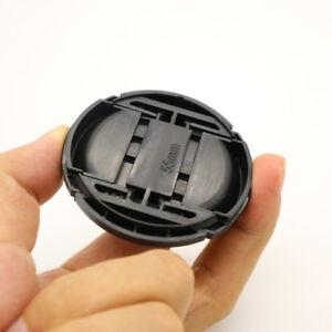 55mm Front Lens Cap Hood Cover Snap on for Sony Nikon Minolta Leica Tamron Canon