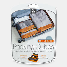 Go Travel Packing Cubes, Triple Pack - Mixed 3 Sizes Cubes, Travel Organiser Set