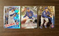 2020 Topps Chrome Nico Hoerner 1985 Refractor, Freshman Flash & Base RC Cubs