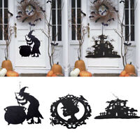 Halloween Non-woven Door Hanging Decor Haunted House Bat Witch Home Party Decor