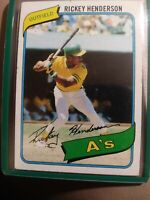 Rickey Henderson rookie card 1980 a true record setter