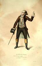 La Petite Ville Perroud Costume Théâtre Jean Racine gravure XIXème