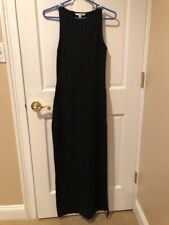 Alexia Admor High Slit Sleeveless Beaded Maxi Dress Evening Gown Black Size S