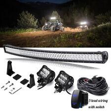 Polaris Ranger 50''LED Work Light Bar+Cube pods offroad Lamp ATV RZR Sportsman