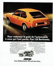 PUBLICITE ADVERTISING 037  1975  la Fiat 128 Berlinetta