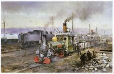 Linda, Penrhyn Narrow Gauge railway print 10 x 12 inch ready mounted SUPERB