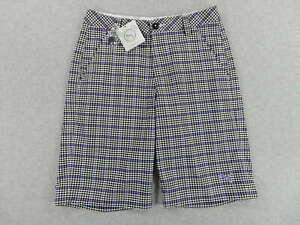 NWT Puma Plaid Tech Golf Shorts (Mens Size 28) Black/Purple Retails for $70