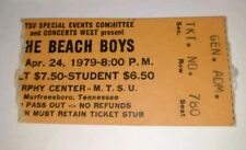 The Beach Boys 1979 Concert Ticket Stub Mtsu w/ Old News Paper Picture 1970's?