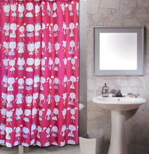 Little Girl Design Abstract Modern Bathroom Fabric Polyester Shower Curtain s282