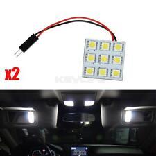 2X Xenon White 9SMD 5050 LED Festoon Light Panel + T10 + Ba9s Dome Map 12V Bulbs