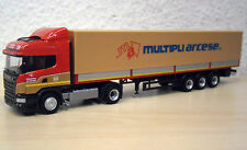 "Herpa - Scania R`13 HL Planen-Sattelzug ""Multipli Arcese"" (I)  Nr. 304061 - 1:87"