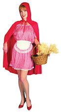 Ladies Little Red Riding Hood Costume Per Bambini Fairytale Vestito UK