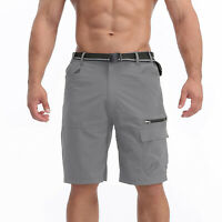 Men's Quick Drying Cargo Shorts Outdoor Hiking Tactical Army Combat Nylon Pants