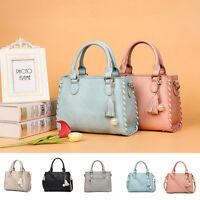 Womens PU Leather Shoulder Satchel Handbag Hobo Tote Purse Ladies Messenger Bag