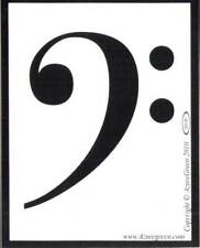 "Bass Clef Symbol Music Note Musical 3-3/4"" x 3"" Bumper Sticker"