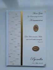 Hardcover-Gästebuch, Konfirmation, Kommunion, Taufe, Erinnerung, creme-gold, A4