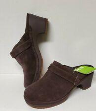 Crocs Triple Comfort Women's Size 8 Clogs Brown Genuine Suede Comfort Mules NWT