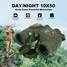 Day/Night 10x50 Military Army Zoom Powerful Binoculars Optics Hunting Camping US