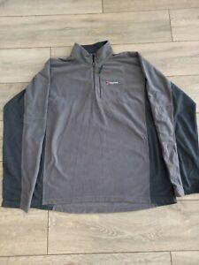 Berghaus 2XL Hiking Micro Fleece Grey 1/4 Zip NWOT